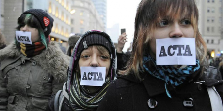 Protestations contre le traité ACTA