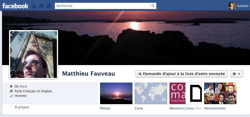Profil personnel Facebook