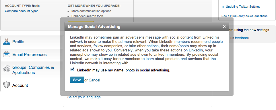 linkedin manage social advertising