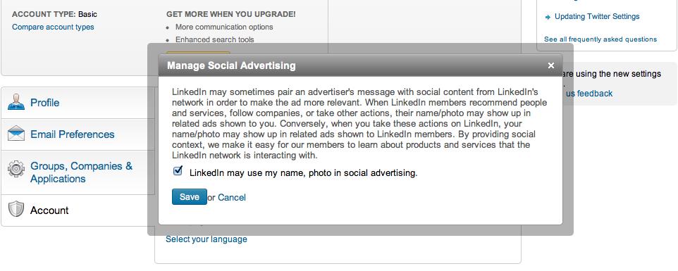 linkedin manage social advertising