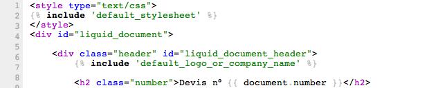 Personnalisation des documents avec la syntaxe Liquid